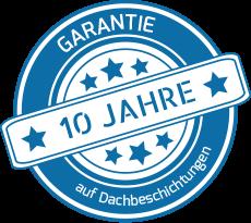 10 Jahre Garantie auf Dachbeschichtungen